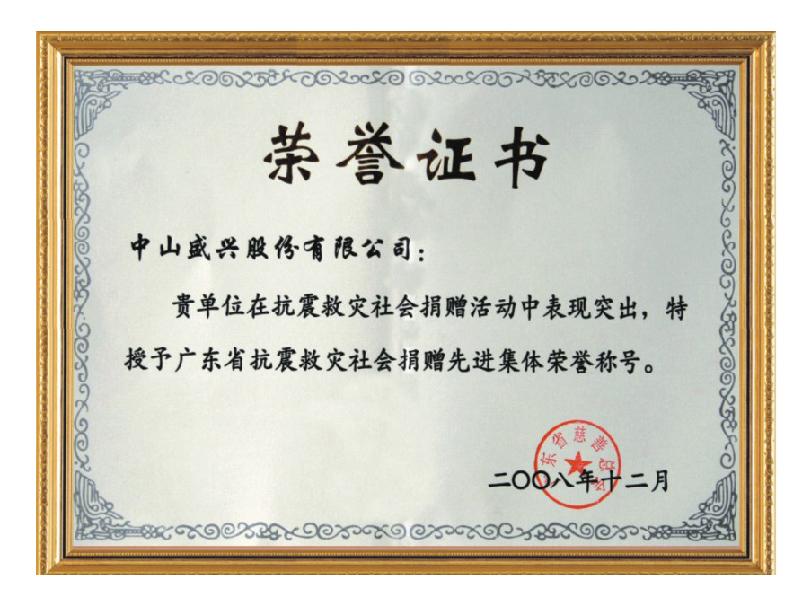 2008年抗振求灾捐赠先进集体